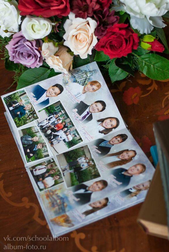 МШ 003 Альбом с книжной фотообложкой формата А5, 5 разворотов